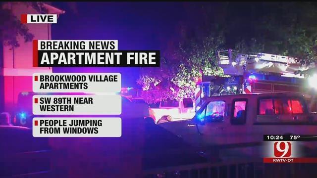 Crews Battle Large Fire At SW OKC Apartment Complex