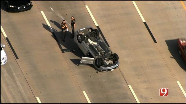 WEB EXTRA: SkyNews 9 Flies Over Rollover Crash On WB I-40