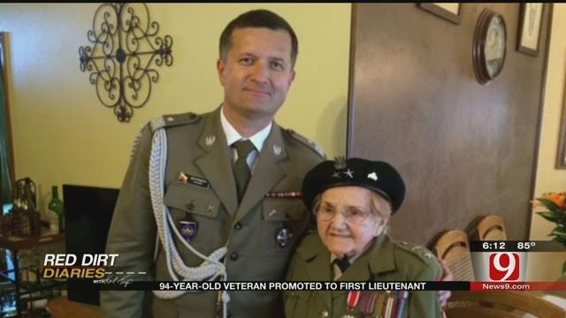 Red Dirt Diaries: 94-Year-Old WWII Veteran Receives Promotion