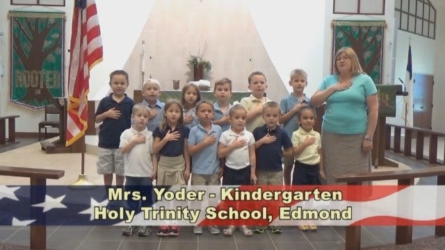 Mrs.Yoder's KindergartenClass at Holy Trinity in Edmond