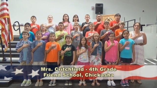Mrs. Critchfield's4th Grade Class at FriendSchool in Chickasha