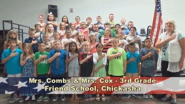 Mrs. Combs' and Mrs. Coxes 3rd Grade Class at Friends School in Chickasha
