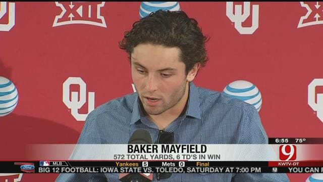 Mayfield's Big Day Leads OU Past Tulsa