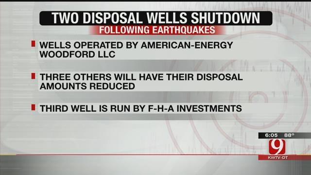 2 Cushing Disposal Wells Shut Down Following Earthquakes