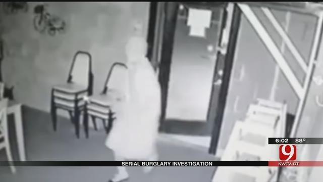 OKC Police Hope Surveillance Footage Leads To Arrest Of Serial Burglar