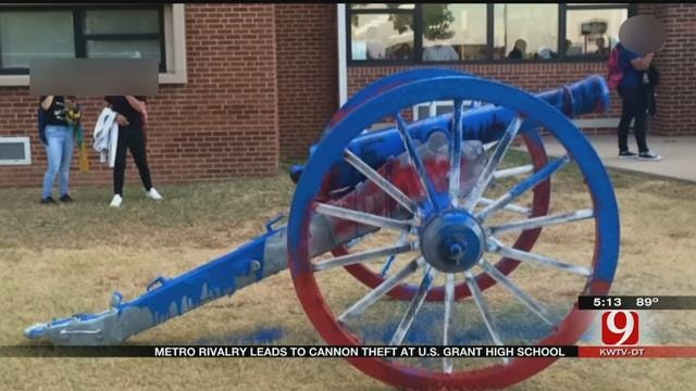 Rivalry Game Leads To Cannon Theft At US Grant High School