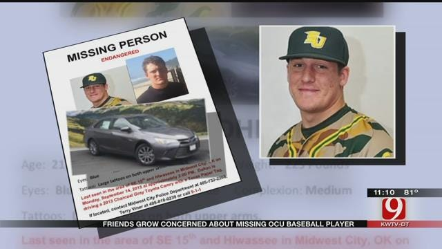 Friends Grow Concerned About Missing OCU Baseball Player