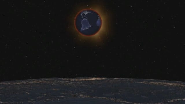WEB EXTRA: September 27 Lunar Eclipse Animation As Seen From The Moon