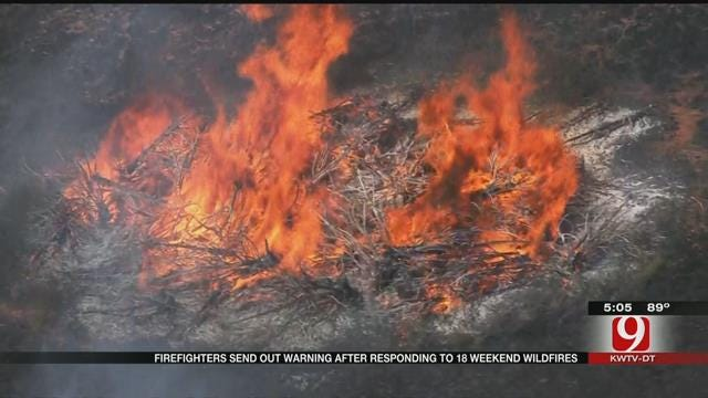 OKC Fire Department Fights 24 Grass Fires In Two Days