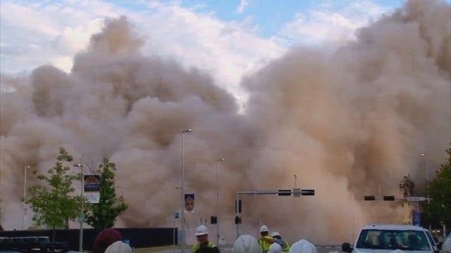 WEB EXTRA: Downtown OKC Buildings Implode Sunday Morning