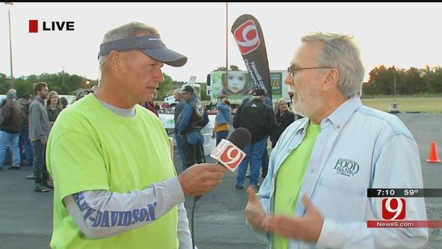 Motorcyclists Ride With News 9's Stan Miller To Fight Childhood Hunger