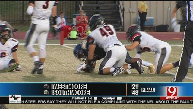 Thompson Dominant As Southmoore Dominates Moore War