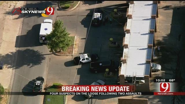 Four Suspects On The Loose Following Two Assaults In SE OKC