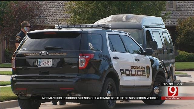 Norman Public Schools Sends Out Warning Due To Suspicious Vehicle