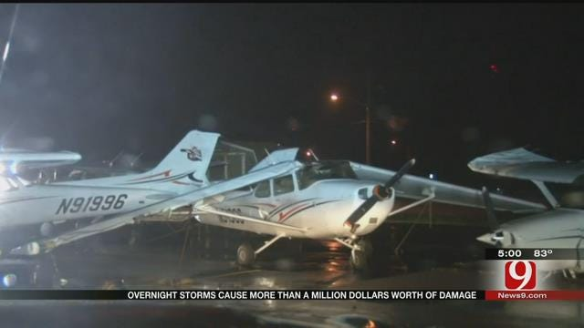 Overnight Storms Cause Significant Damage At Stillwater Regional Airport