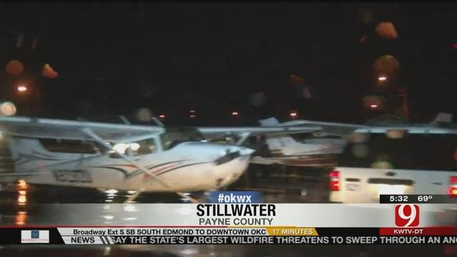Storms Damage Planes At Stillwater Regional Airport