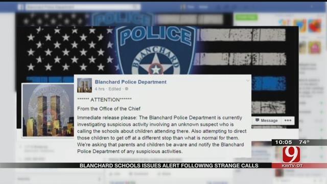 Blanchard Schools Issues Alert Following Strange Calls