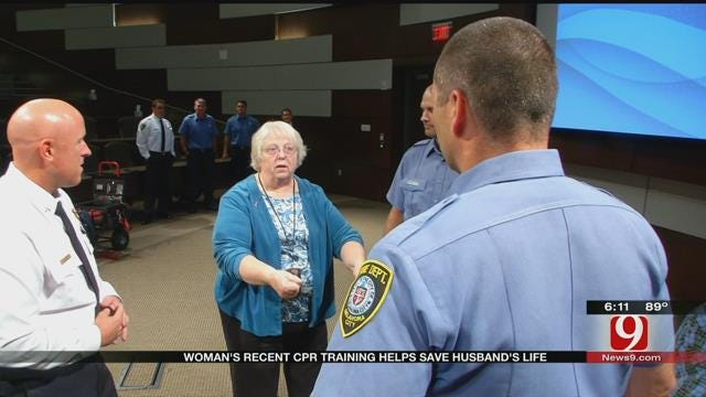 Guthrie Woman's Recent CPR Training Helps Save Husband's Life