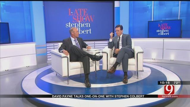 David Payne Talks One On One With Stephen Colbert