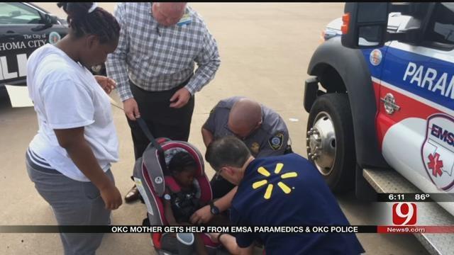 Mom Receives New Car Seats From OKC Police, EMSA, Walmart