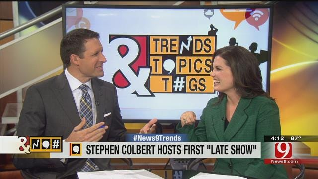 Trends, Topics, & Tags: Stephen Colbert Hosts First 'Late Show'