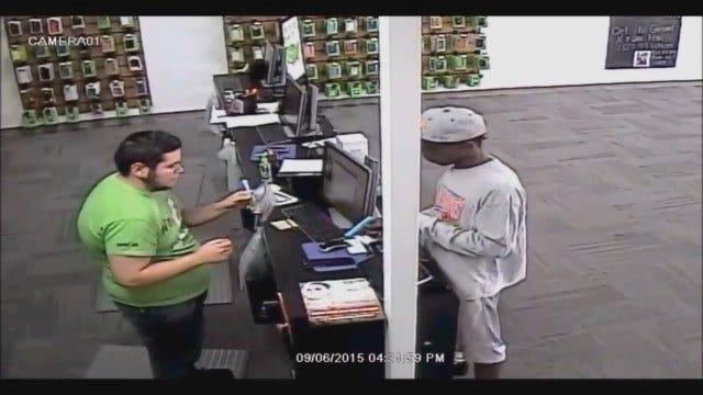 WEB EXTRA: Man Caught On Camera Robbing OKC Cricket Store At Gunpoint