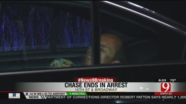 Suspect Arrested After Leading OKC Police On Chase In Stolen Pickup