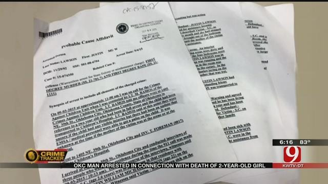 OKC Man Accused Of Raping, Killing 2-Year-Old Girl