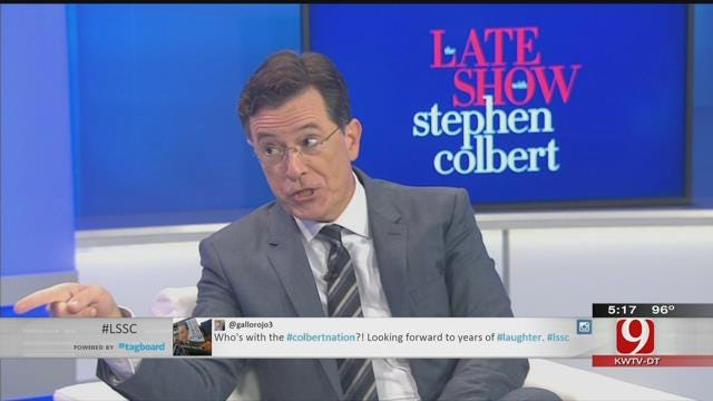 David Payne Sits Down With Late Show Host Stephen Colbert