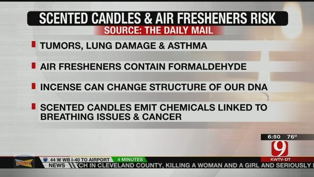 Scented Candles, Air Fresheners Pose Health Risks