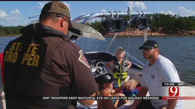 Troopers Hard At Work Patrolling Lakes During Holiday Weekend