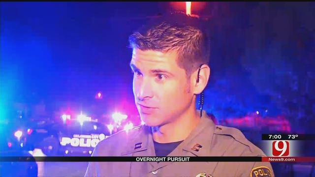 Two Officers Crash In Overnight Pursuit, Suspects Arrested
