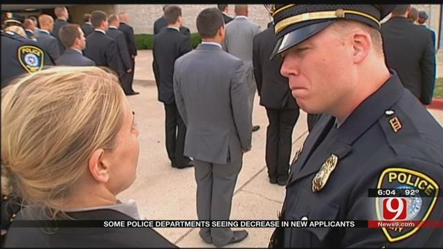 Many Oklahoma Police Departments Seeing Decrease In New Applicants