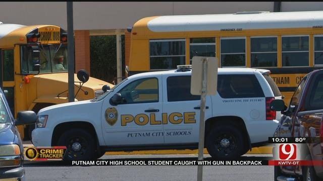Putnam City HS Student Caught With Loaded Gun In Backpack