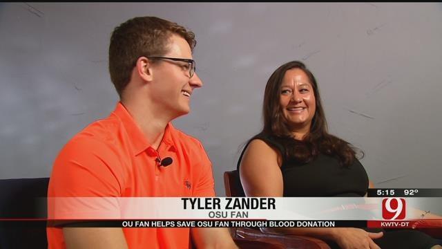 OU Fan Helps Save OSU Fan Through Blood Donation