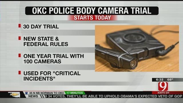 OKC Police Officers Begin Body Camera Trial