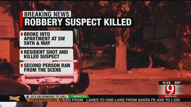Resident Shoots, Kills Burglary Suspect In SW OKC