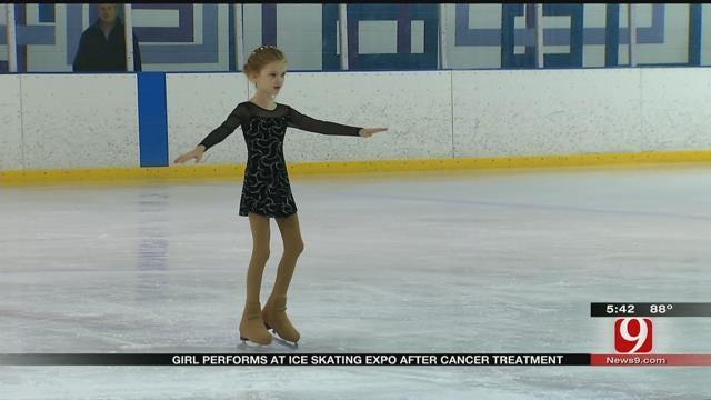 UK Girl With Cancer Skates In Edmond Ice Skating Event