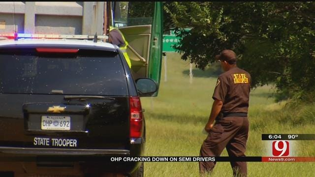 OHP To Crack Down On Speeding Tractor-Trailers