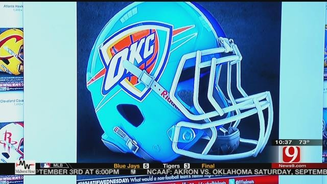 Local Graphic Designer Shows Off Awesome Football Helmets