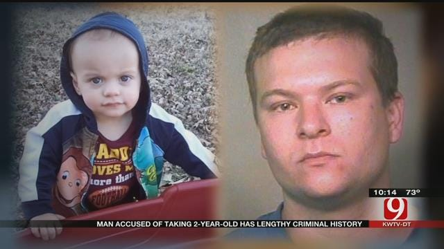 OKC Man Accused Of Taking His 2-Year-Old Has Lengthy Criminal History