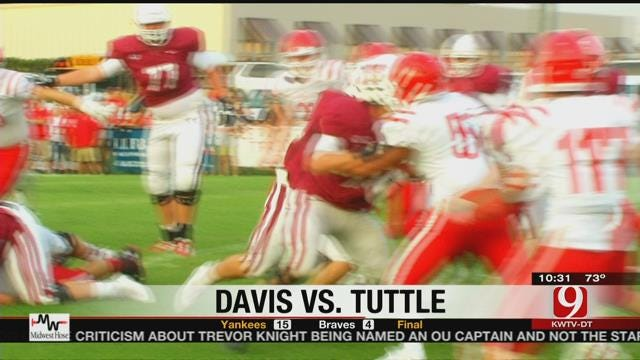 Tuttle Charges Past Davis