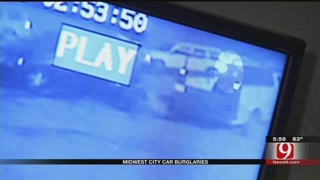 MWC Police: Car Burglary Suspect Caught On Camera