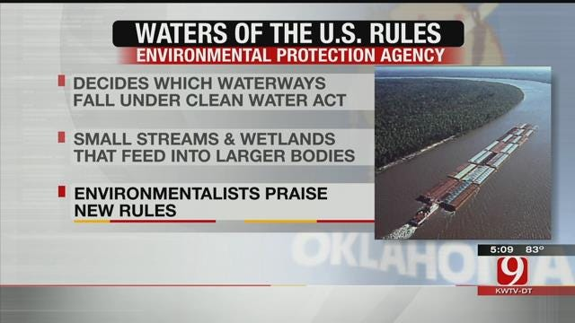 New Rules Expanding EPA Clean Water Act Goes Into Effect In Oklahoma