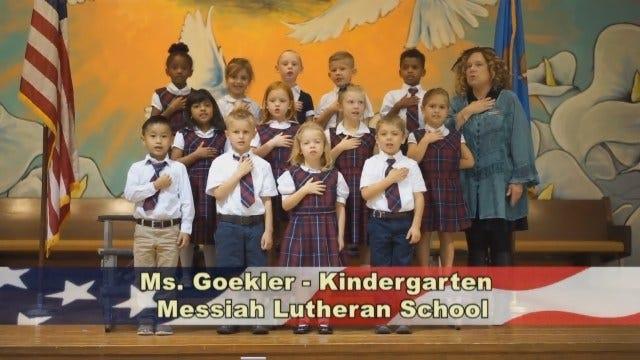 Ms. Goekler's Kindergarten Class at Messiah Lutheran School