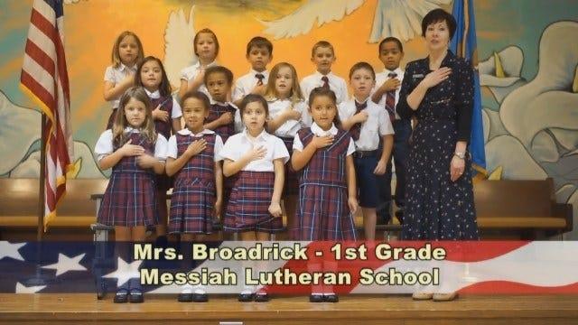 Mrs. Broadrick's 1st Grade Class at Messiah Lutheran School