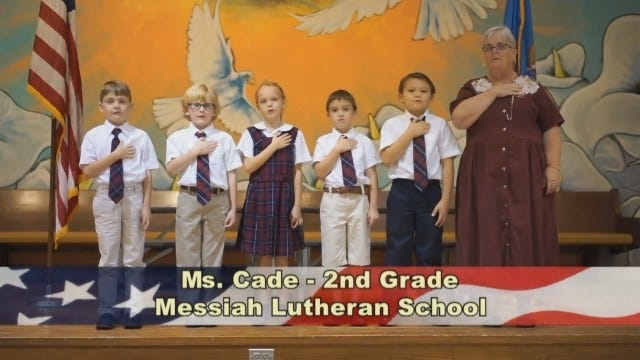 Ms. Cade's 2nd Grade Class at Messiah Lutheran School