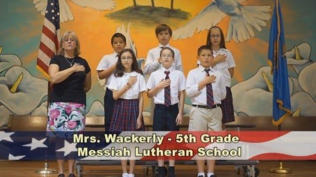 Mrs. Wackerly's 5th Grade Class at Messiah Lutheran School