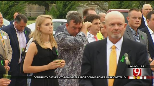 Community Gathers To Remember Labor Commissioner Mark Costello
