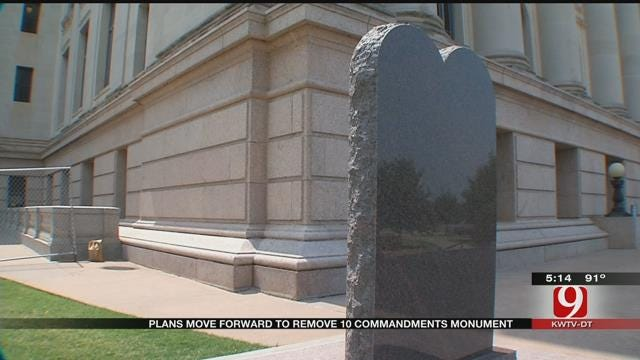 Plans Move Forward To Remove State Capitol's Ten Commandments Monument